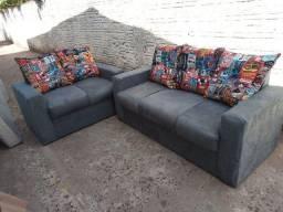 Kit sofá 2 e 3 lugares