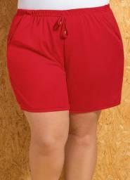 Short com Amarração Vermelho Plus Size - 56
