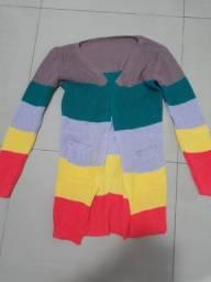 Casaco Tricô com lindas cores