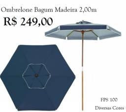 Ombrelone Itapema Bagum Madeira 2,00m - Diversas Cores
