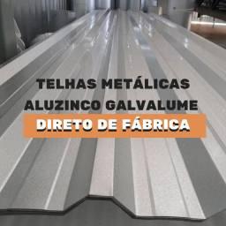 Telha Metálica Aluzinco Direto de Fábrica