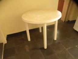 Mesa de plástico redonda