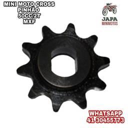 PINHÃO 9 DENTES MINI MOTO CROSS MXF 50CC/2T PARTIDA A PEDAL