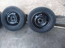 Rodas aro 14 de ferro com pneu