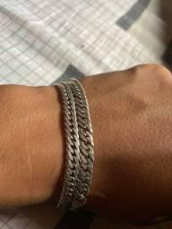 Vendo duas pulseira de prata masculina