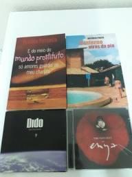 2 livros + 2 cds = 50 reais (preço de desapego)
