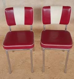 Cadeira Estofada Vermelha