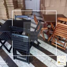 Mesas dobráveis com 4 cadeiras (receba em casa)