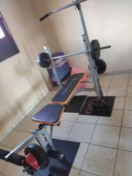Estação De Musculação + Estante com espelho + Equipamento de pilates