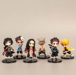 Kit 6 miniaturas/bonecos Demon Slayer Kimetsu no Yaiba