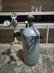 Cilindro de Co2 4kg+solenoide