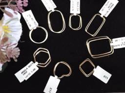 Brinco, argola, pulseira,anel em OURO 18K