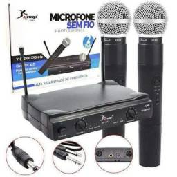KIT Microfone Sem Fio KNUP com Bluetooth