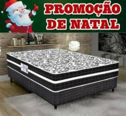 Cama Box Casal+Colchão de Molas Anjos Entrega Imediata