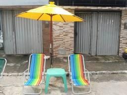 Fabricação de ombrelone e cadeiras de praia em aluminio