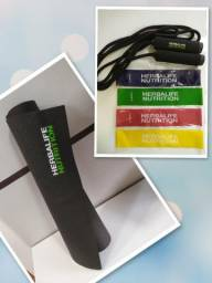 Tapete Herbalife + Corda + Elásticos para Exercícios