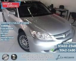 Honda Civic 1.7 LXL hbg Aut.4p 2005 R$11.610-84.010km - 2005