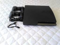 PS3 Slim 160gb / 2 Controles sem fio