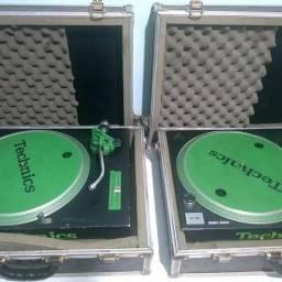 Par toca discos Mk2 + case