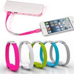 Pulseira Bracelete Micro Usb, iPhone e tipo-c Para Smartphone e iPhone