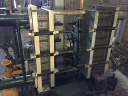 """Chiller com 2 Trocadores de Calor Alpha Laval Condensador e Evaporador 4"""" Amônia - #7371"""