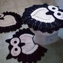 Vendo conjunto banheiro tapete da coruja