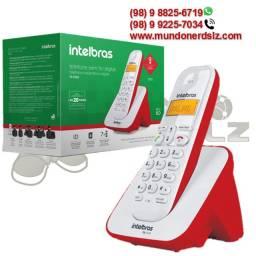 Telefone sem Fio Vermelho com Branco Com Display Luminoso Intelbras TS 3110 em São Luís Ma