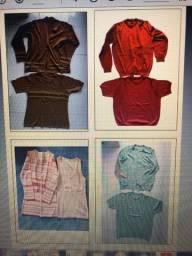 Conjuntos blusa e casaco tam M e P santa cruz do sul