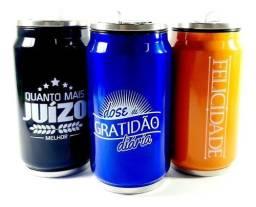 Título do anúncio: Copo Inox Latinha Refrigerante Térmico Com Frases Stainlless Steel Cup Modelo