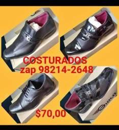 Sapatos sociais costurados em promoção