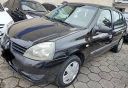 Clio Autent. Sedan 2008 flex 2008 Completo Repasse R$12.900,