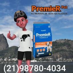 Ração premier 20kg Raças Médias filhotes sabor frango
