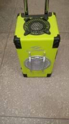 Vendo caixa de som com rodinha bluetooth pen drive 200 vates.