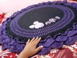 Tapete em crochê para decoração