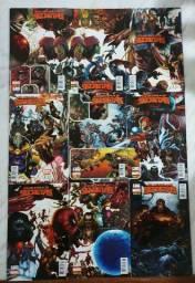 Combo Saga Guerras Secretas, da Marvel nº 01 ate 09