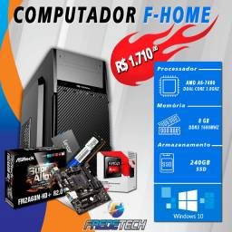 Computador F-Home, Amd A6-7480 3,8 Ghz, 8Gb Ddr3 1600Mhz, Ssd240Gb