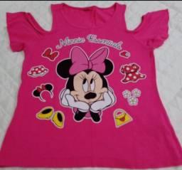Camiseta Minnie Tamanho 8-10