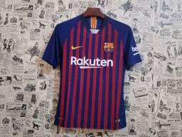 Camiseta Nike Time Barcelona 18/19 Oficial Masculino