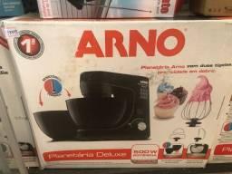 Batedeira planetária Arno duas tigelas preta lacrado