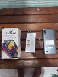 LG K22 novo na caixa