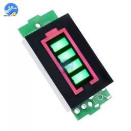 medidor indicador de capacidade da bateria de lítio 1s e 3s