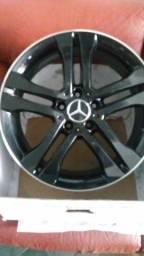 roda aro 18 , 5x112 , mercedes preta borda diamantada