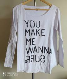 Camiseta - You Make Me Wanna Shurf - Roxy