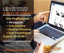 Criação de site e catálogo de Produtos