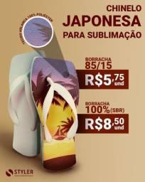 Chinelo Japonesa para Sublimação 85/15 Borracha