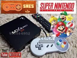 Super Tv Box gamer, 311 jogos SNES + toda funcionalidade de Um Android Tv