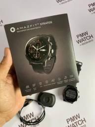 Smartwatch Amazfit Stratos GPS+Prova d'agua+Musica (usado) Completo