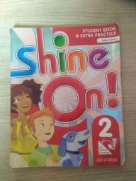 Livro inglês Shine On 2 ou 3 usado