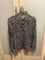 camisa dudalina tam 40 estampada florida