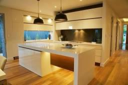Bancada Ilha de cozinha laqueada alto brilho